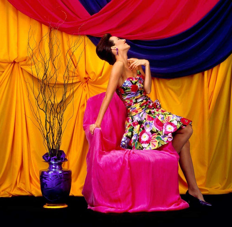 Model in Flower Dress